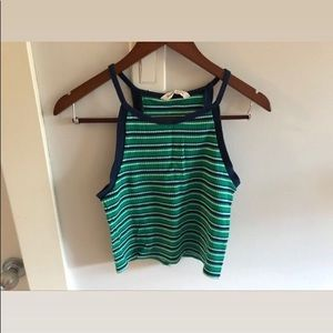 Green striped top BOGO50%
